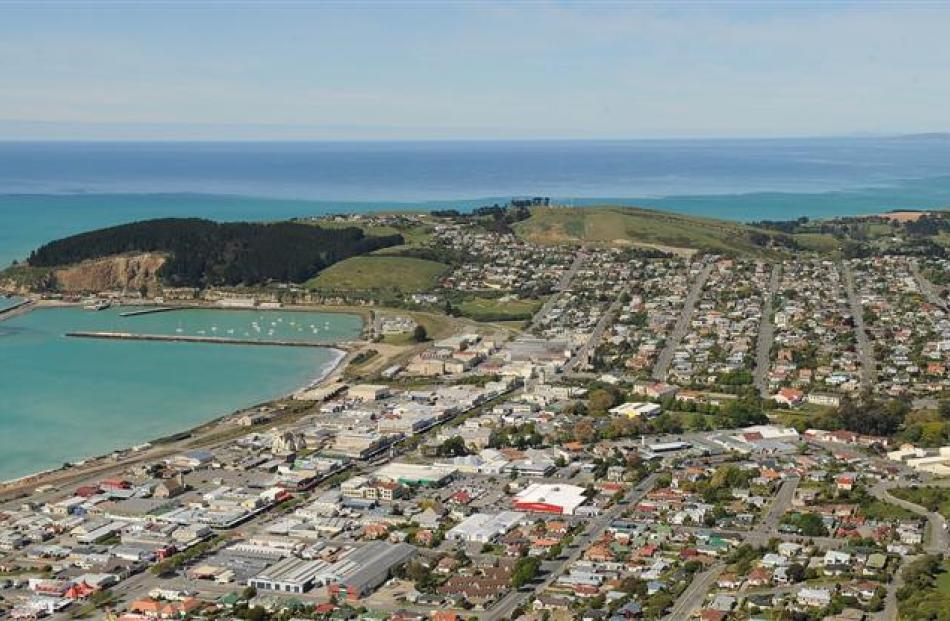 Part of Oamaru from the air. How will regional house prices fare in the coming years? Photo by...