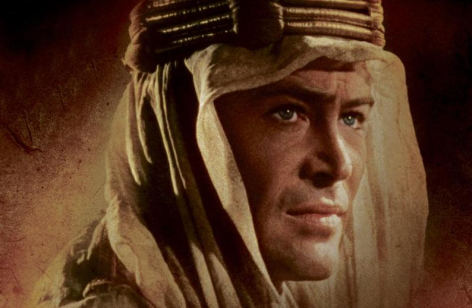 Peter O'Toole as Lawrence of Arabia in the David Lean film. Image supplied.