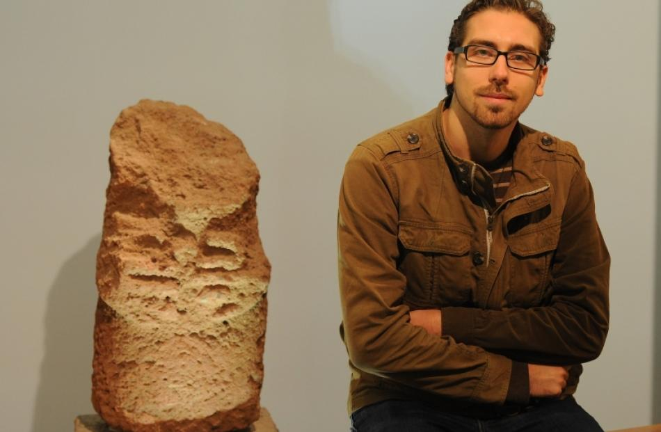 PhD researcher Adrian Young at Otago Museum. Photo by Craig Baxter