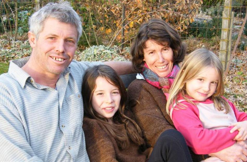 Phill Hunt and Lizzie Carruthers, with daughters Hillary and Fiona, reflect on their success in...