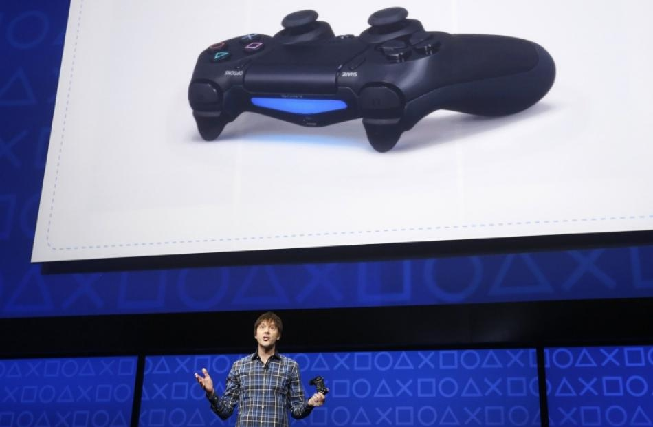 PlayStation 4's lead system architect Mark Cerny speaks during the unveiling of the PlayStation 4...