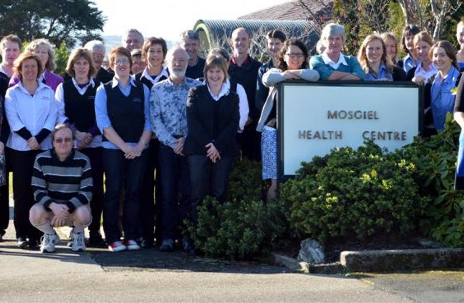 Practice manager Kathryn Tohill (right) with staff at the Mosgiel Health Centre, which is set to...