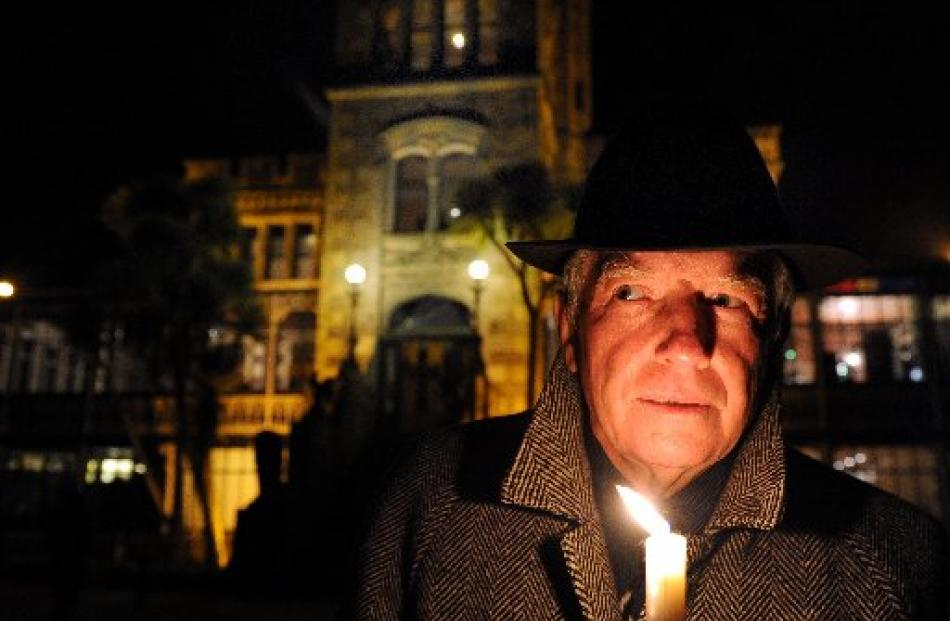 Presenter and actor Peter Hayden kept 50 people on tenterhooks during a night of ghost stories at...