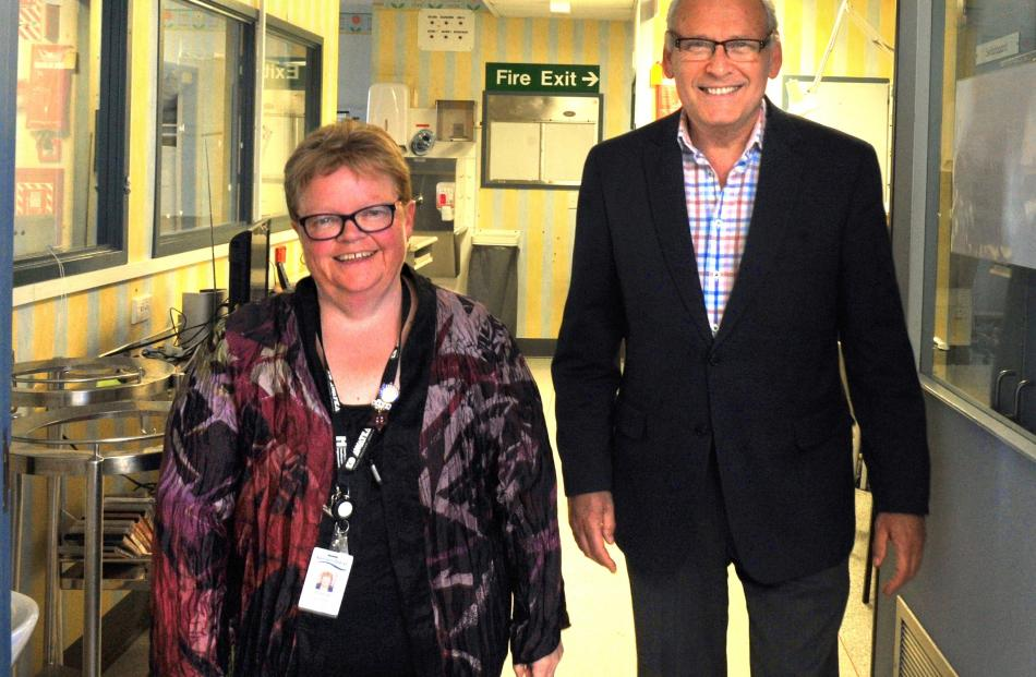 Project leaders Leanne Samuel and David Perez are planning the new intensive care unit at Dunedin...