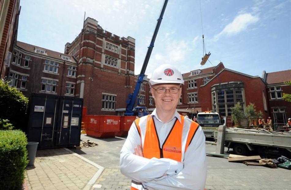 Project manager of the earthquake-strengthening and extension project at  Dunedin's Knox College...
