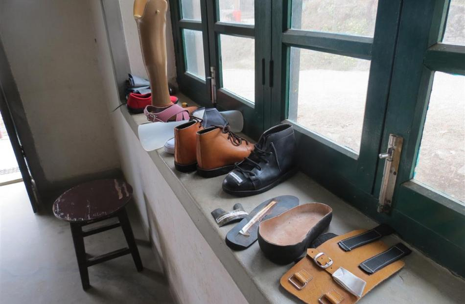 Prosthetics made for patients at Anandaban Hospital. Photo: supplied