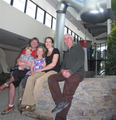 Puzzling World founder Stuart Landsborough (right) and his grandchildren Cohen (2) and 