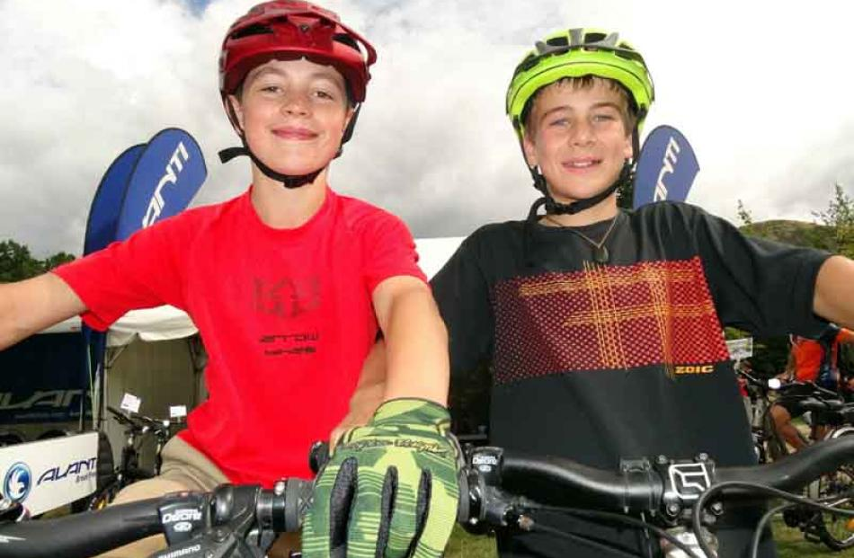 Max McDonald (12) and Joshua Culling (12), both of Arrowtown.