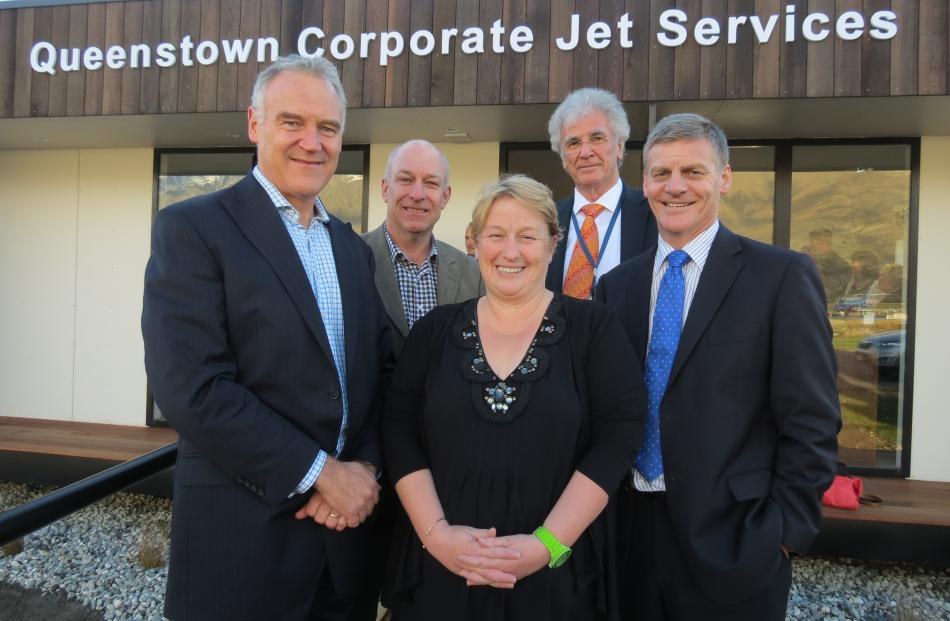 Queenstown Airport Corporation chief executive Scott Paterson (left) with Destination Queenstown...