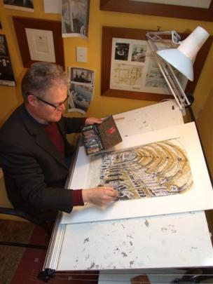 Queenstown architect Ed Elliott's drawings of French architecture  are being exhibited in the St...