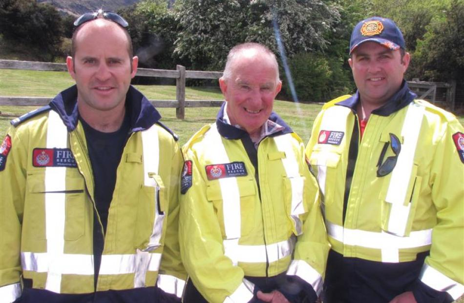 Queenstown Volunteer Fire Brigade Deputy Chief Fire Officer Doug McKay (left) with Chief Fire...