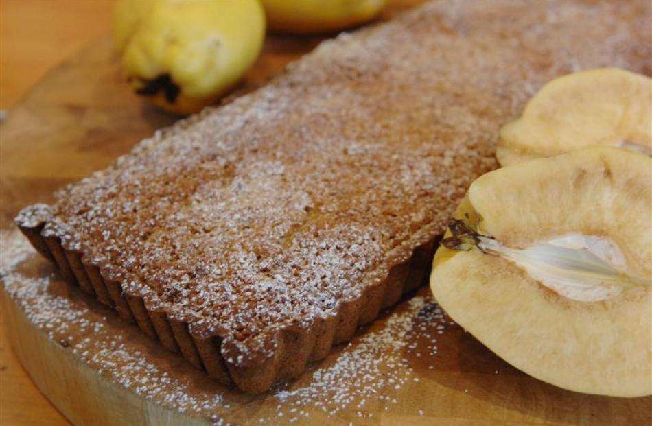 Quince and walnut tart. Photo by Linda Robertson.