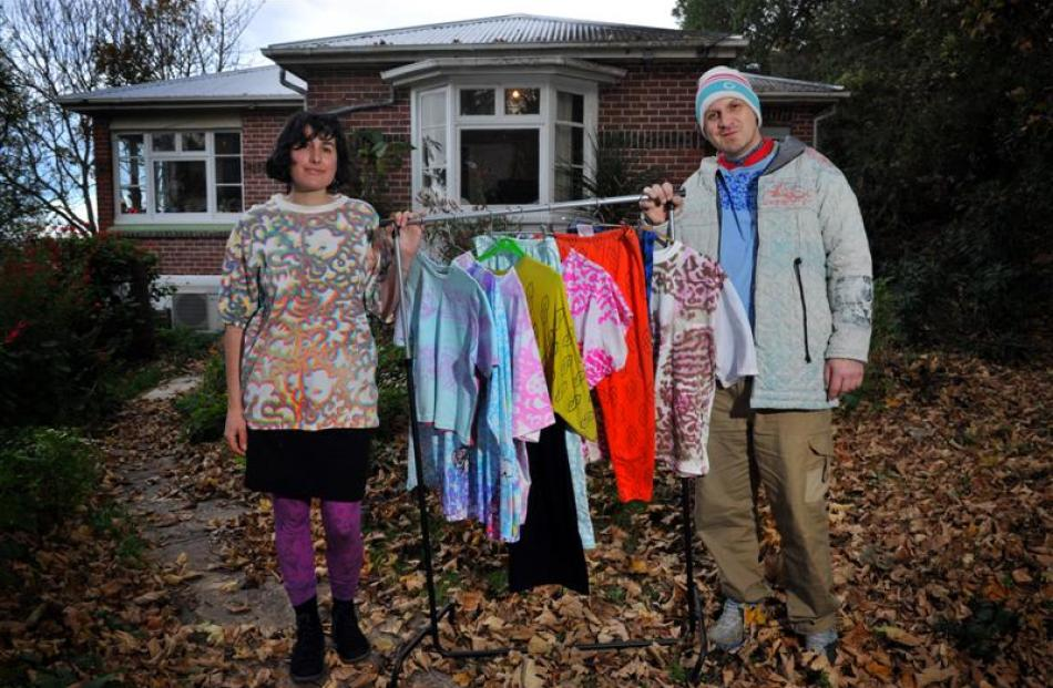 Rachel Blackburn and Jason Aldridge at their Steep St home with clothes from their STeeP STReeT...