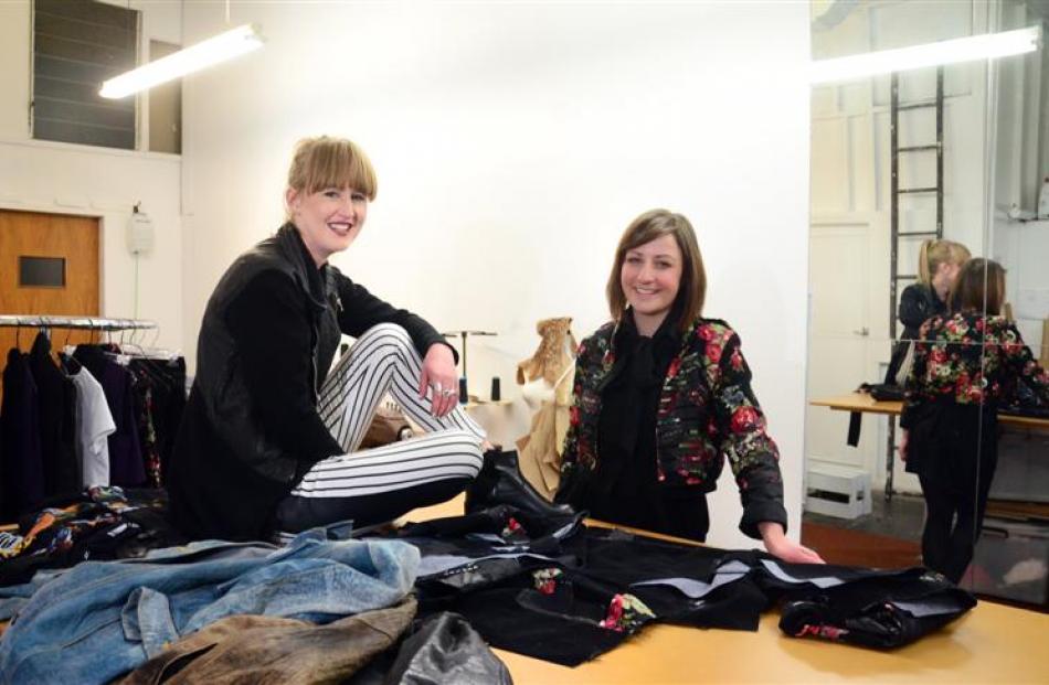 Rachel Webb and Elise Barnes, designers of Dunedin label Undone, in their studio in Salisbury...