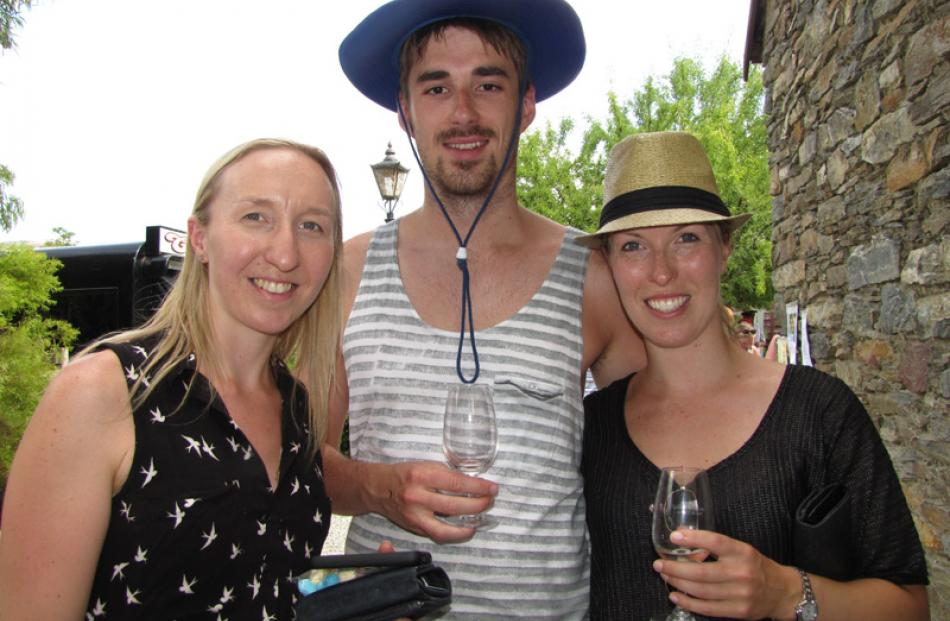Rebecca Landreth (left), of Dunedin, David McCarthy, of Auckland and Hannah Musgrove, of Auckland.