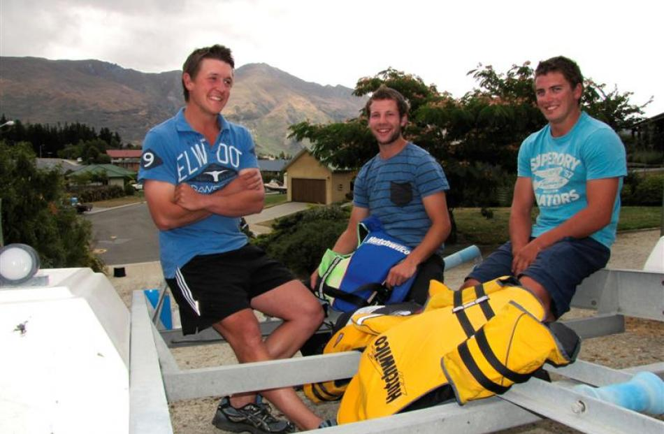 Reflecting on their rough night in a drifting boat on Lake Wanaka yesterday are rescued boaties ...