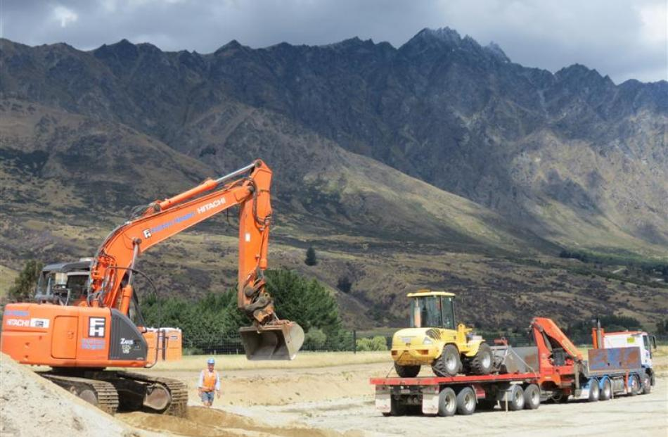 Remarkables Park  last week  began building  part of the eastern access road, designed to...