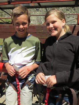 Remarkables Primary  pupils (from left) Hope Gregory (12), Oliver Price (12), Drew Kinny (12),...