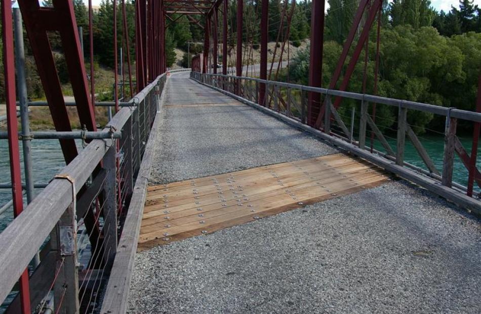 Repair work done on the Luggate bridge is a 'guarantee of a puncture if you are on a push bike',...