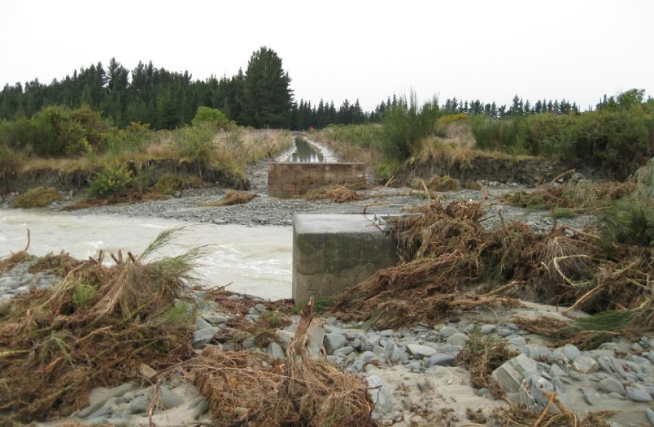 Repairs are under way after high river flows and flooding caused significant damage to irrigation...