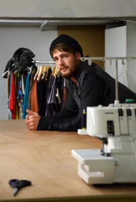 Richie Boyens in his Above Ground studio and retail outlet. Photo: Emily Cannan