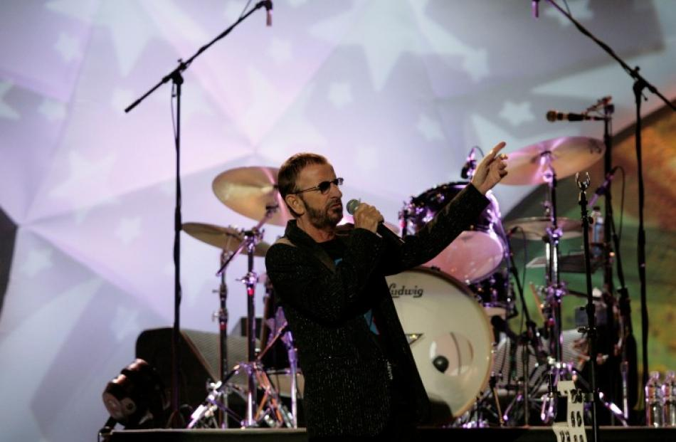 Ringo Starr at a dress rehearsal before a concert in Mexico City. REUTERS/Bernardo Montoya
