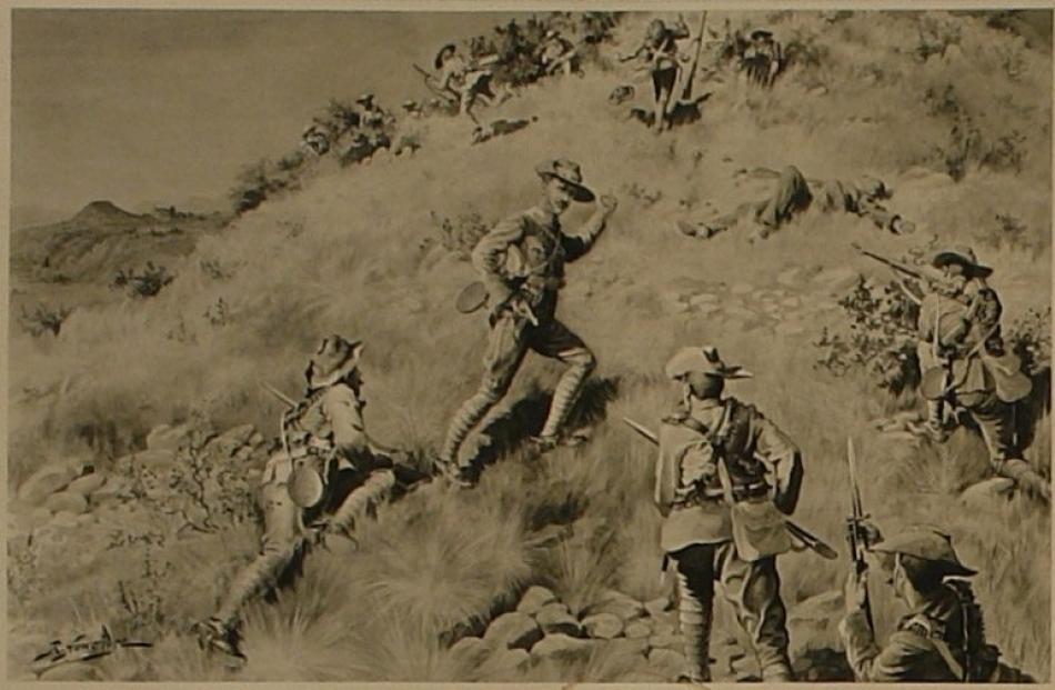 Robert Hawcridge's painting 'Jack Harvey's final command'