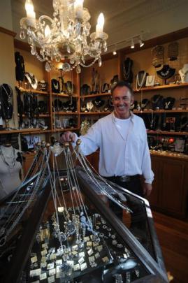 Rockbourne Jewellery designer Paul McDowell in his Dunedin showroom. Photo by Peter McIntosh.