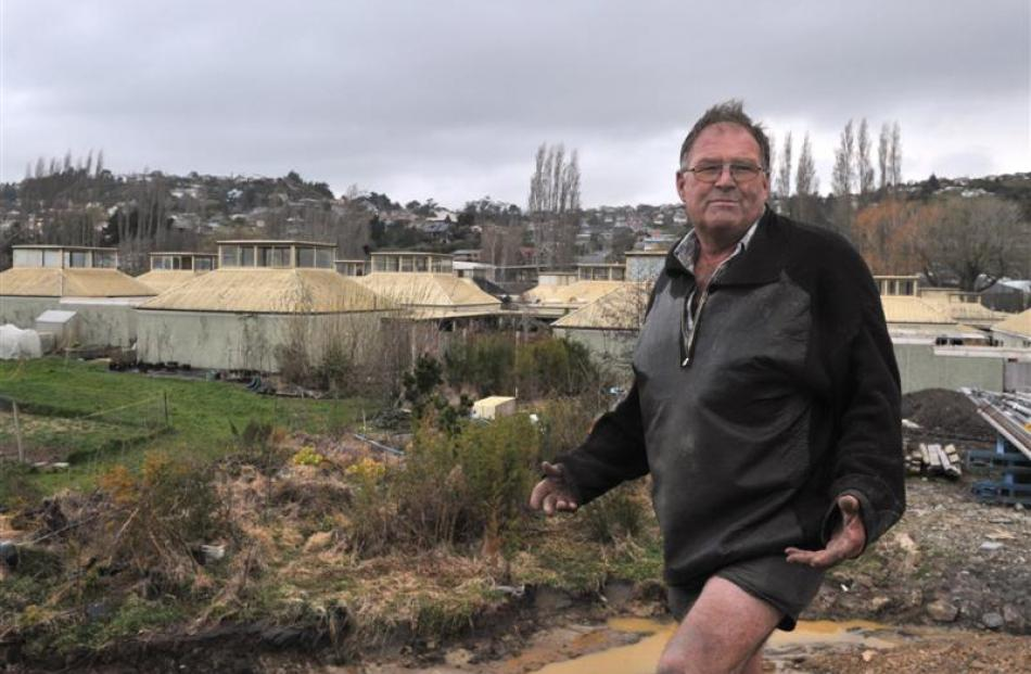 Rodney Hogg on the former Kenmure Intermediate School site last year. Photo by Linda Robertson.