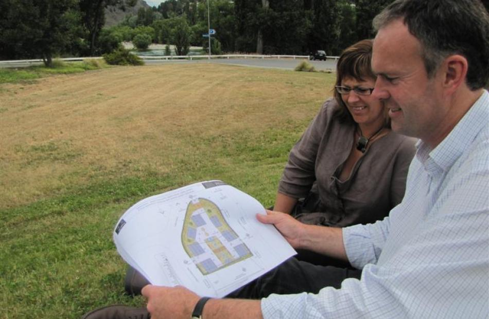 Rory and Karen McLellan, of Alexandra, consider their proposals  for a shantytown-like...