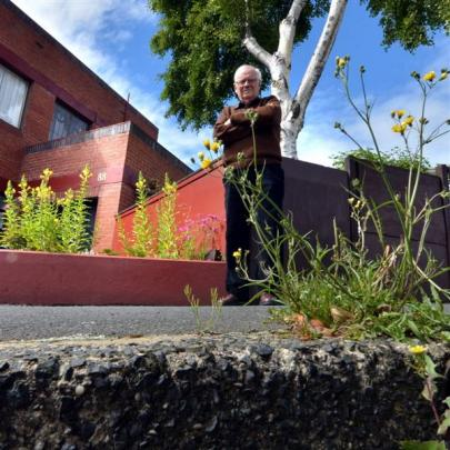 Roy Kenny is upset over what he claims is inaction by the Dunedin City Council in spraying weeds...