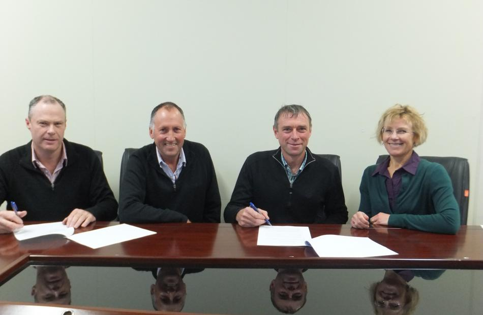 rrigation groups represented by (from left) Chris Dennison, Leigh Hamilton, and Robyn Wells ...