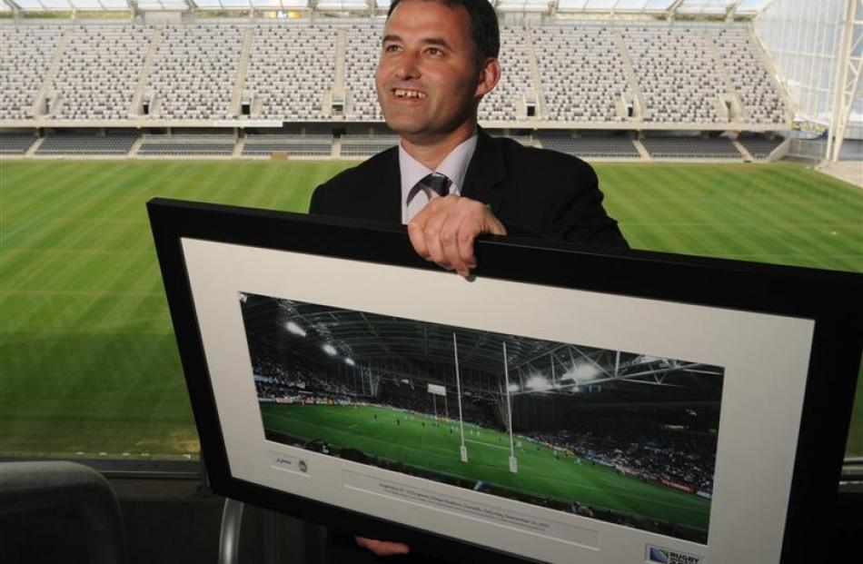 Rugby New Zealand 2011 tournament services general manager  Nigel Cass at Forsyth Barr Stadium,...