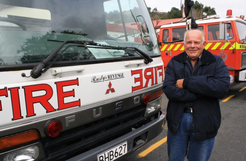 Russell Partel still enjoys driving this water tanker after 45 years of being part of the...