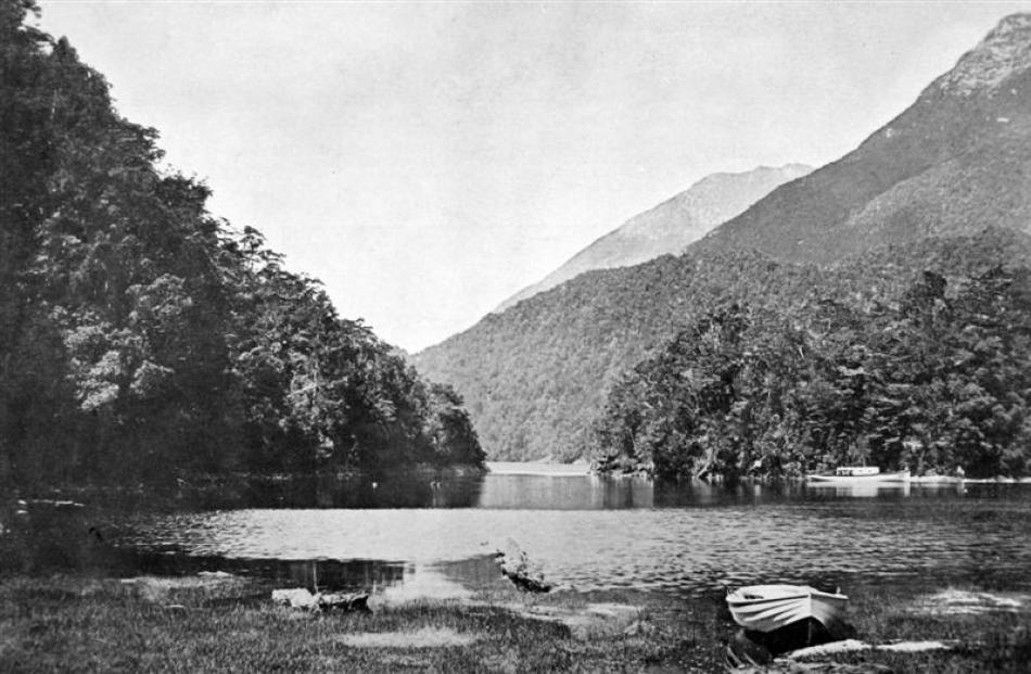 Safe Cove, Lake Manapouri. - Otago Witness, 25.12.1912. Copies of picture available from ODT...