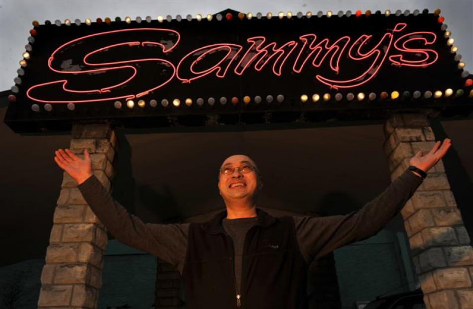 Sammy's owner Sam Chin at the venue yesterday before it reopens this month. Photo by Gerard O'Brien.