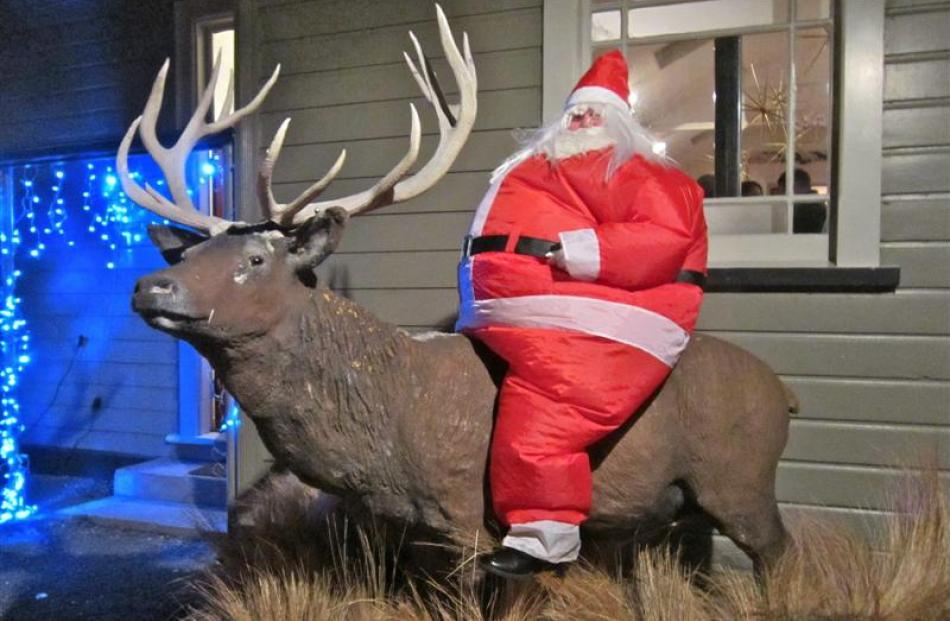 Santa at the Middlemarch Festival of Lights last year. Photo supplied.
