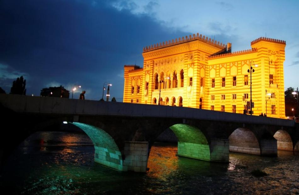 Sarajevo City Hall, the last place that Austro-Hungarian Archduke Franz Ferdinand and his wife...