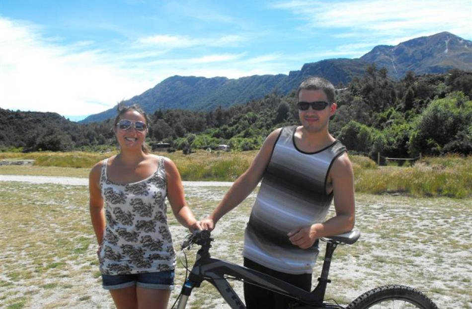 Scottish couple Ceylan Bekar (25) and Mike Ritchie, who stayed at Twelve Mile Delta before...