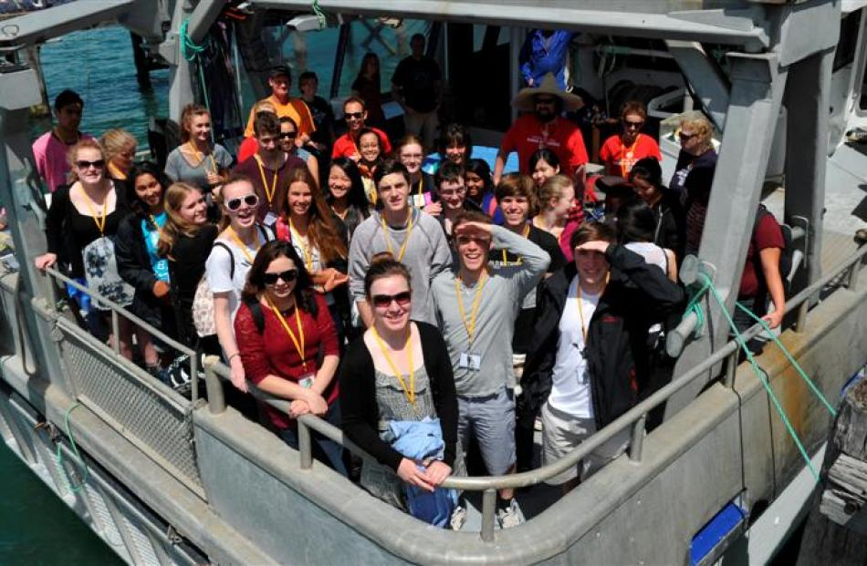 Secondary school pupils attending the University of Otago's latest hands-on science camp depart...