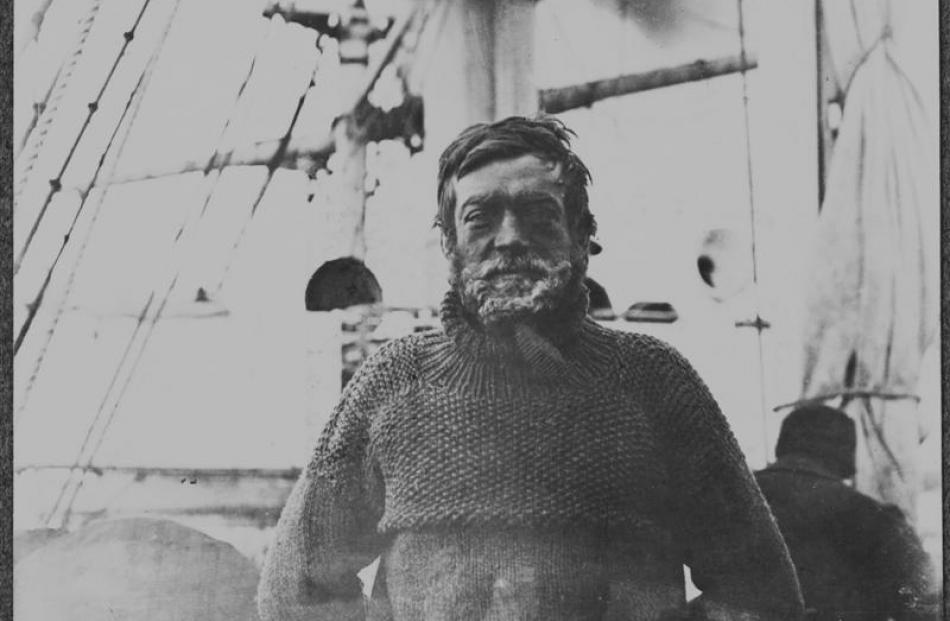Shackleton aboard <i>Nimrod</i> after the harrowing Southern Journey, March 1909. Photo courtesy...