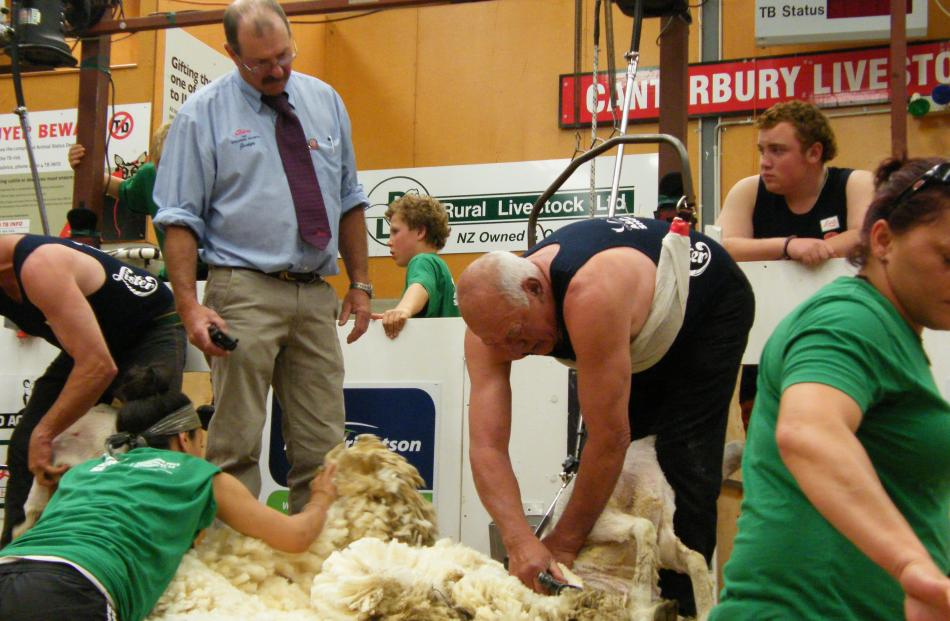 Shearing Sports New Zealand official John Hough, who is in  his final season of  shearing...