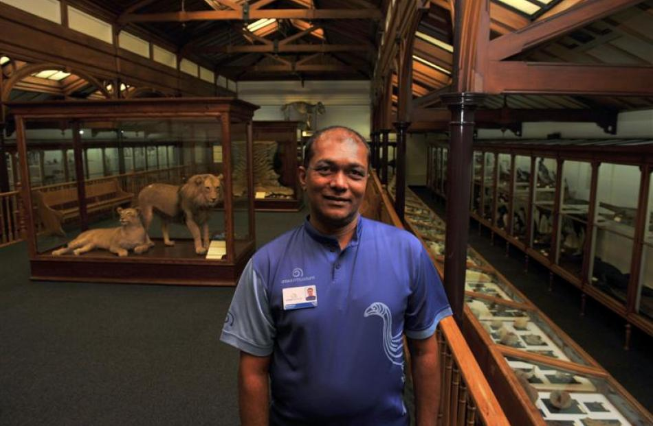 Shimrath Paul, Otago Museum's chief executive, says the Animal Attic is his favourite gallery in...