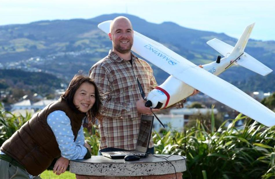 Sian and Jared Reeves, Dunedin surveyors and their unmanned aerial vehicle-driven surveying...