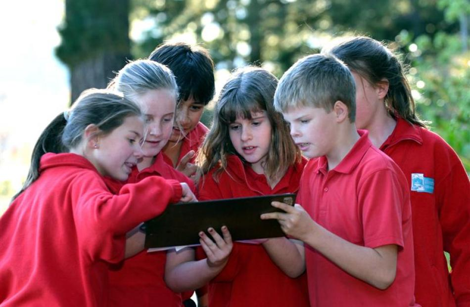 Silverstream School pupils (main pic, from left) Jessica Christie, Jayde Smith, Rikki Kerr,...