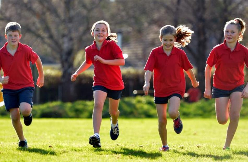 Silverstream School's Thomas Andrews (10), Lucy Cowie (9), Shyah Beattie (9) and Danni Thomson (9...