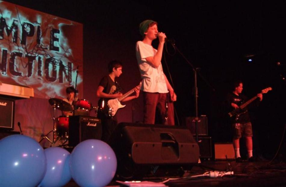 Simple Function, from Wakatipu High School, performs during the Big Break concert at the...