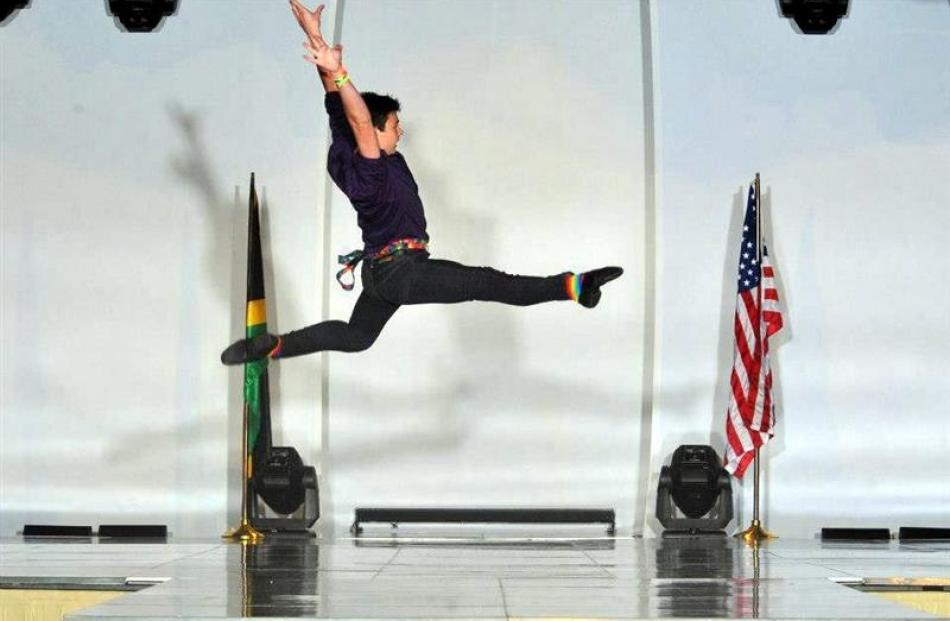 Singer and dancer Hayden Withers  competing at the World Championships of Performing Arts in Los...