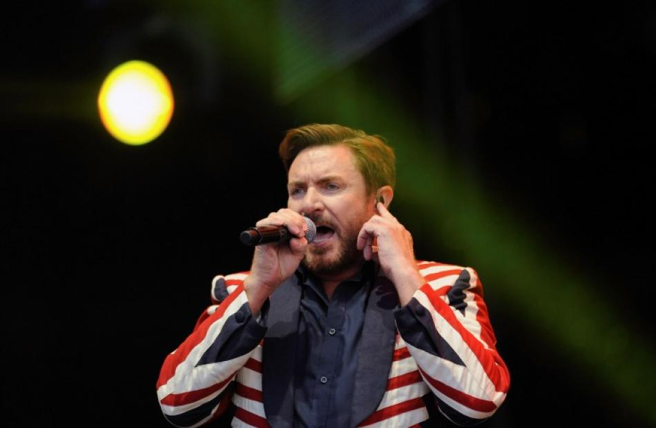 Singer Simon Le Bon from Duran Duran performs on stage at Hyde Park in London. REUTERS/Ki Price