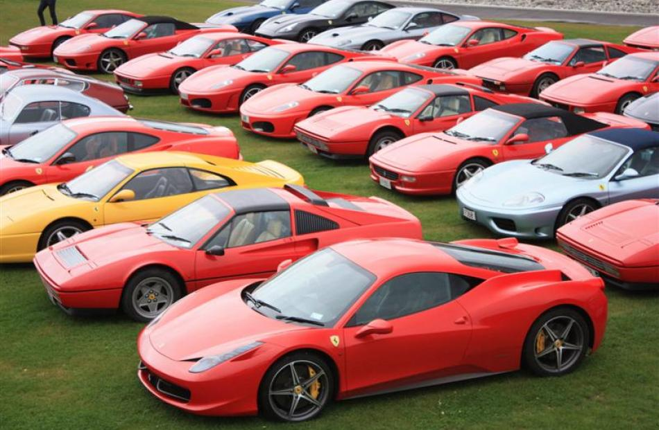 Some of the 50 Ferraris at the annual meeting of the Ferrari Owners Club of  New d9870ee9aee2
